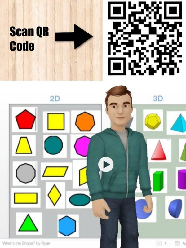 Scanning this QR Code will bring you to video on a Stick Around Puzzle on Shapes