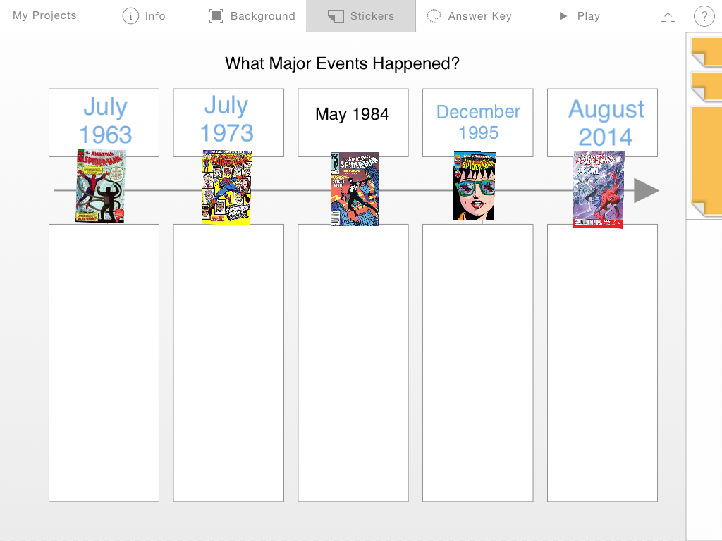 comic book reading chronology