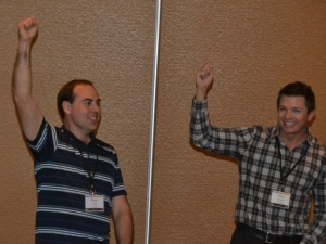 Tony Vincent and I during Tim Rylands and Sarah Neild's session.