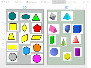 My first puzzle I used for classroom instruction about what is the difference between a 2D and 3D shape.